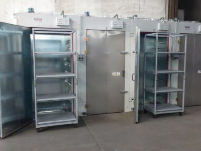 INDUSTRIAL OVEN WITH  FOR THE DRYING PROCESS ON THE IMPREGNATION LINES  (4 INDEPENDENT ZONES)